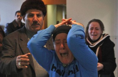 Families of Lebanese passengers rushed to the Rafic Hariri International Airport in Beirut to await news of their loved ones.