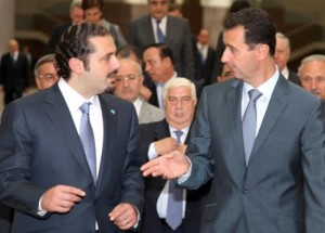 hariri in damascus w assad 2