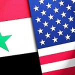 flags US syria