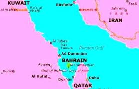 iran bahrain map