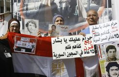 lebanese mothers protest - syrian prison