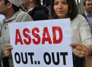 Anti Assad  protests - assad out