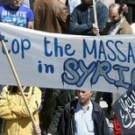 anti assad poster stop massacres