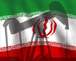iran oil - flag w pump