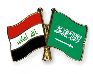 flags iraq saudi