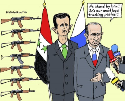 putin assad, cartoon