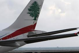 MEA plane , beirut airport