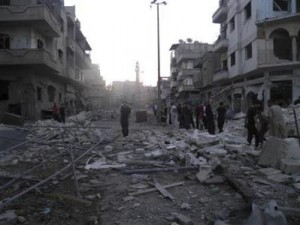 twin car bombs kill 25 in homs. Black Bedroom Furniture Sets. Home Design Ideas