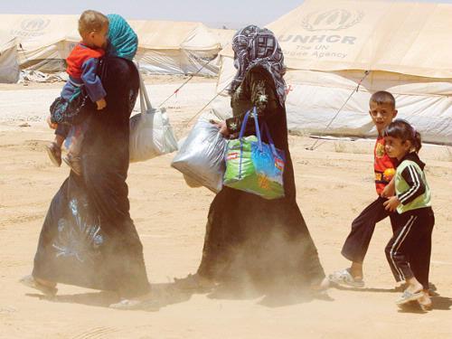 syrian refugees, Jordan Zaatari camp