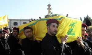 hezbollah funeral for fighter