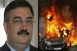 wissam hassan assassinated - protesters burn tires