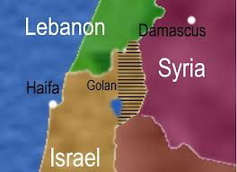 map golan syria lebanon israel