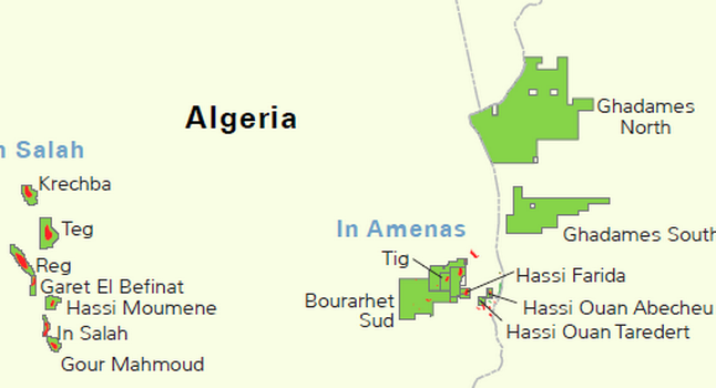 algeria in amenas map