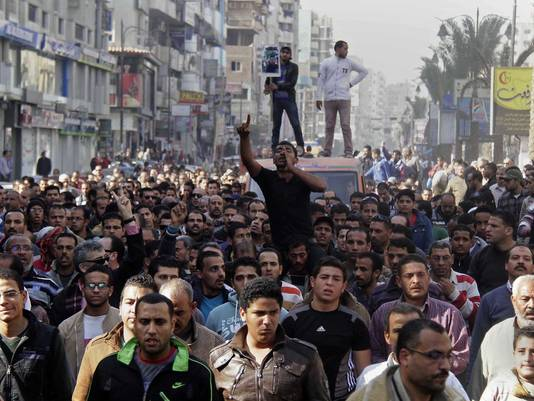 egypt protest uprising anniversary