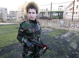 women militia, syria