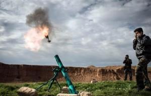 free syrian army firing rockets