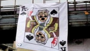 saudi king of spades cartoon