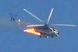 syrian army helicopter downed