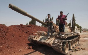 syrian rebels captured tanks