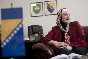 Amra Babic mayor in hijab