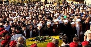 Hezbollah funeral for  fighters killed in Syria