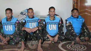 UN peacekeepers held by rebels