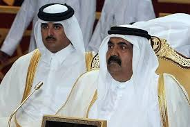 qatar rulers father and son