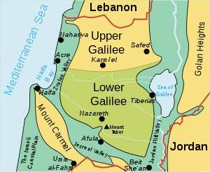 Israel Galilee    map