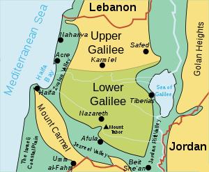 Israel Galilee    map