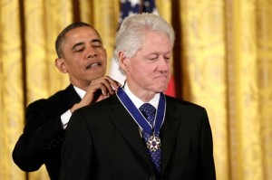Obma honors clinton