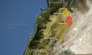 map lebanon arsal