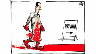 assad syria summit cartoon