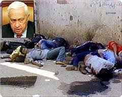 sharon, sabra shaltila massacre