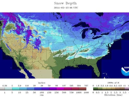 Snow In Out Of US States Including Hawaii - Map of us including hawaii