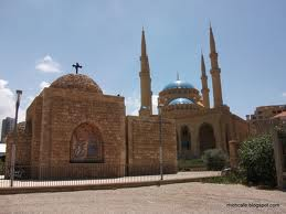 lebanon church mosque side by side
