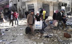 syrians evacuated from Homs
