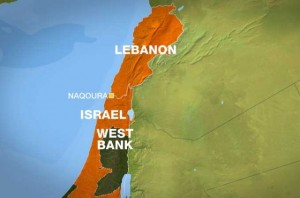 MAP LEBANON naqoura